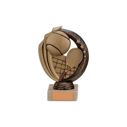 Renegade Tennis Legend Award Antique Bronze & Gold 140mm